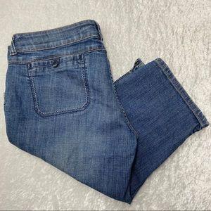 American Eagle Faded Medium Wash Denim Shorts